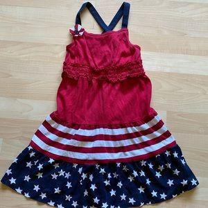 Gymboree Girls Patriotic Summer Cotton Dress 6